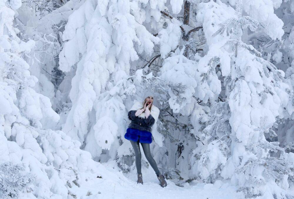 فصل الشتاء حول العالم - كراسنويارسك، روسيا 5 يناير/ كانون الثاني 2019
