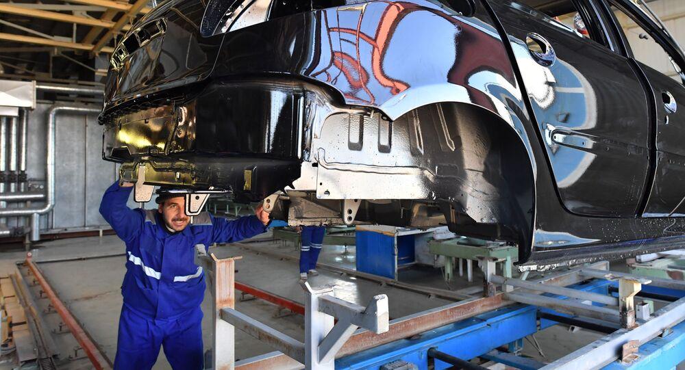 مصنع SIAMCO  السوري-الإيراني لانتاج السيارات في ريف دمشق، سوريا