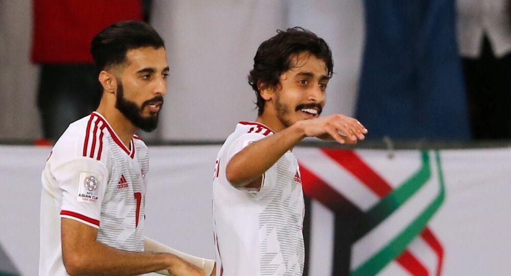 من مباراة الإمارات مع الهند في كأس أمم آسيا 2019