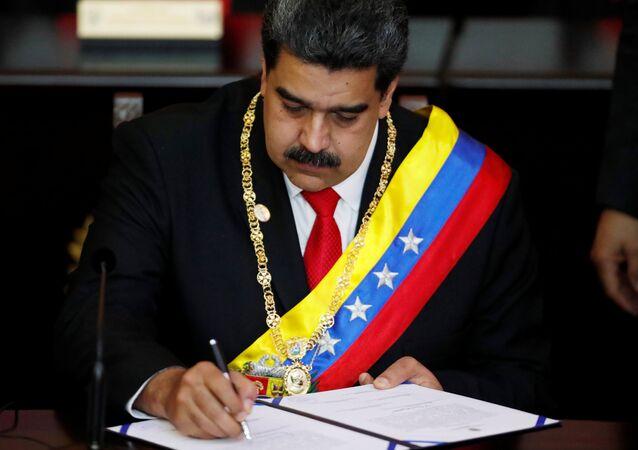مراسم تنصيب الرئيس الفنزويلي نيكولاس مادورو في كاراكاس