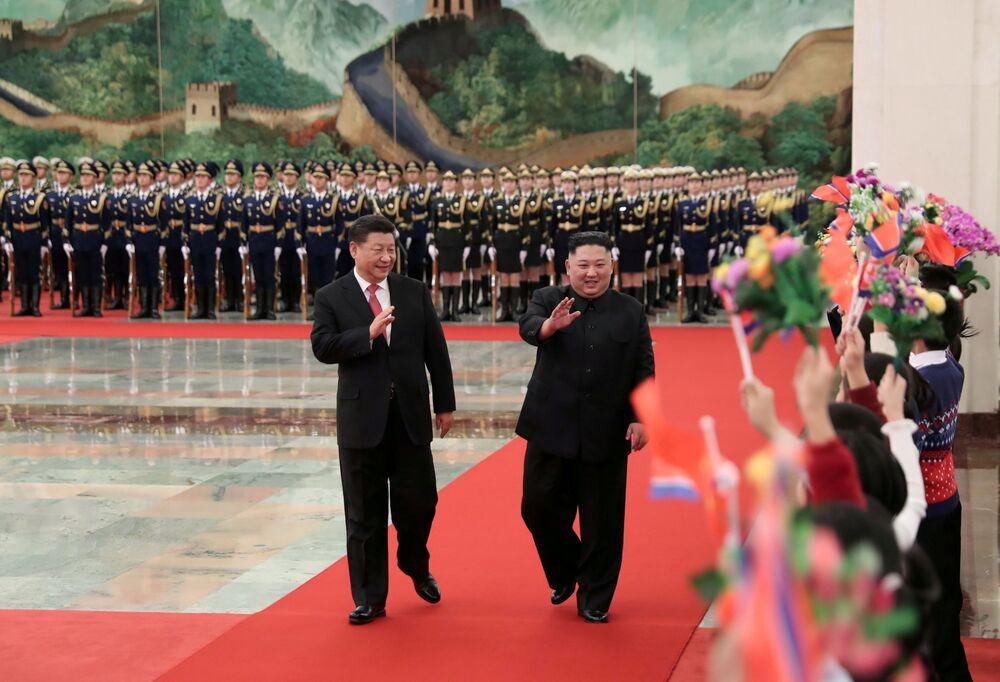 زيارة الزعيم الكوري الشمالي كيم جونغ أون إلى الصين، 8 يناير/ كانون الثاني 2019