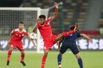 منتخب عمان خلال مواجهة منتخب اليابان كأس آسيا 2019