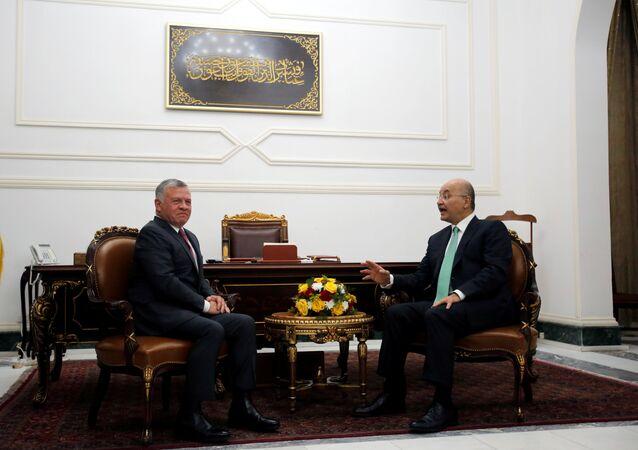 الرئيس العراقي برهم صالح، والعاهل الأردني الملك عبد الله الثاني