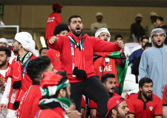 جماهير الإمارات في مباراة منتخبهم الإمارات مع تايلاند