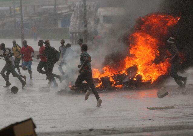 احتجاجات في زيمبابوي