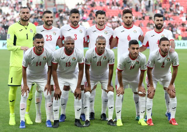 تشكيل المنتخب الأردني في إطار بطولة كأس أمم آسيا 2019، في ملعب محمد بن زايد، أبو ظبي، الإمارات العربية المتحدة، 15 يناير / كانون الثاني 2019