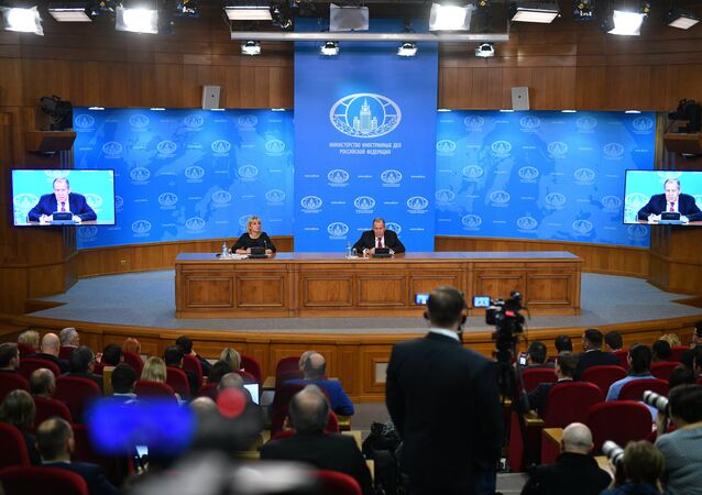 المؤتمر الصحفي السنوي لوزير الخارجية الروسي سيرغي لافروف، 16 يناير/ كانون الثاني 2019