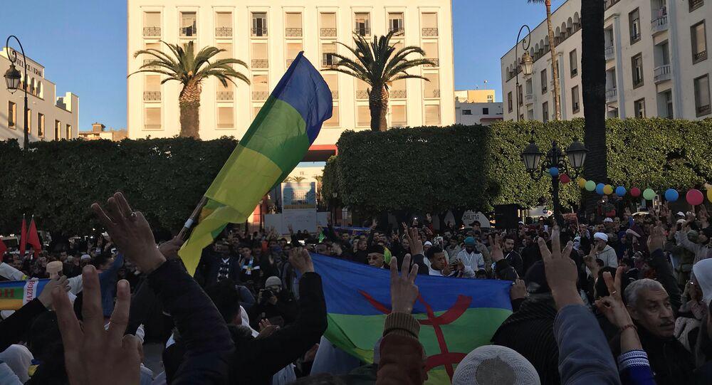 الشعب الأمازيغي يحتفل بعامه الجديد خارج البرلمان بدعوات لدولة للاعتراف باليوم كعطلة رسمية وحماية لغتهم في الرباط