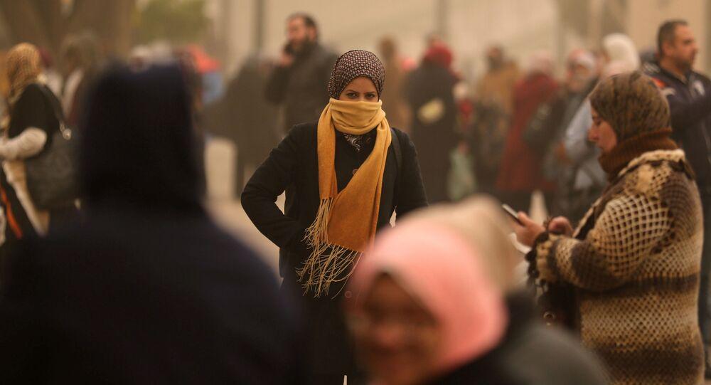 عاصفة رملية تضرب مصر - القاهرة، 16 يناير/ كانون الثاني 2019