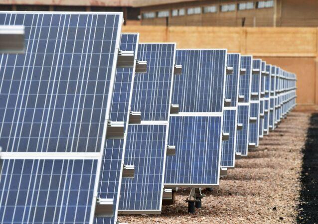 محطة لتوليد الكهرباء من الطاقة الشمسية