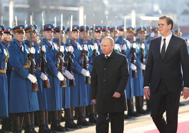 زيارة بوتين إلى صربيا