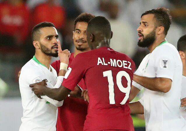منتخب قطر ومنتخب السعودية في الجولة الثالثة من كأس أمم آسيا 2019 في الإمارات