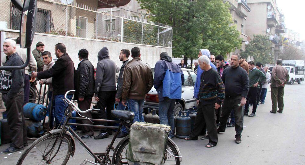 توزيع مادة الغاز في دمشق
