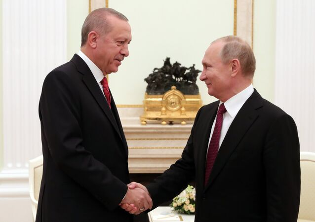 الرئيس فلاديمير بوتين يلتقي مع نظيره التركي رجب طيب أردوغان في موسكو، 23 يناير/ كانون الثاني 2019