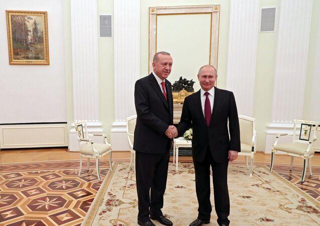 لقاء الرئيس بوتين مع نظيره أردوغان في موسكو