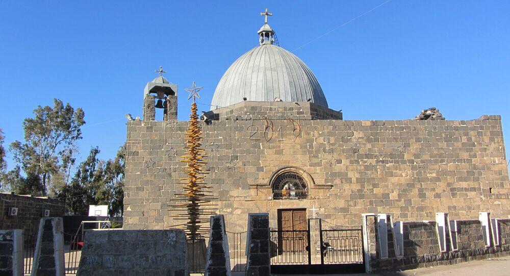 كنيسة القديس جاورجيوس الخضر بمدينة إزرع جنوب سوريا