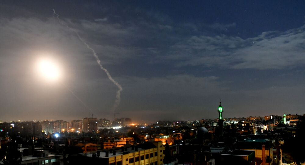 صواريخ العداون الإسرائيلي فوق سماء دمشق، 21 يناير/ كانون الثاني 2019