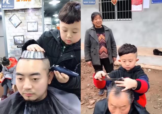أصغر وأشهر حلاق صيني