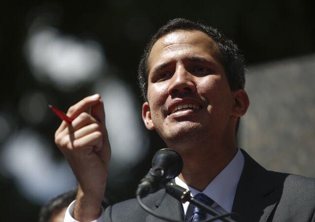 زعيم المعارضة الفنزويلية، رئيس الجمعية الوطنية، خوان غوايدو