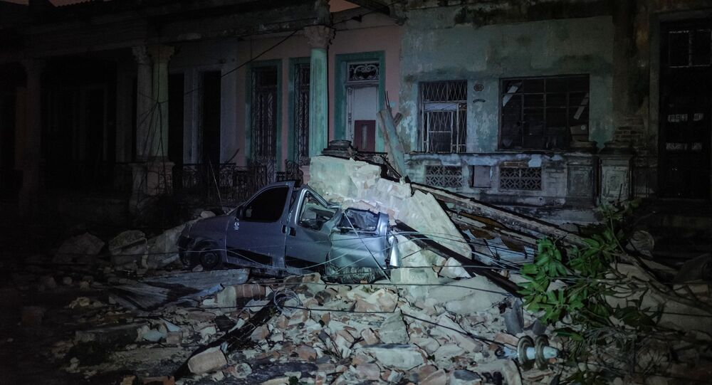 آثار اعصار في هافانا، كوبا 28 يناير/ كانون الثاني 2019