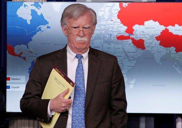 مستشار الأمن القومي الأمريكي جون بولتون، البيت الأبيض، واشنطن، الولايات المتحدة 28 يناير/ كانون الثاني 2019
