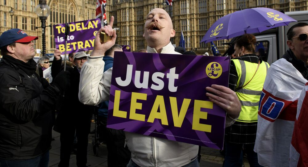 مظاهرات ضد خروج بريطانيا من الاتحاد الأوروبي، بريكسيت، لندن يناير/ كانون الثاني 2019