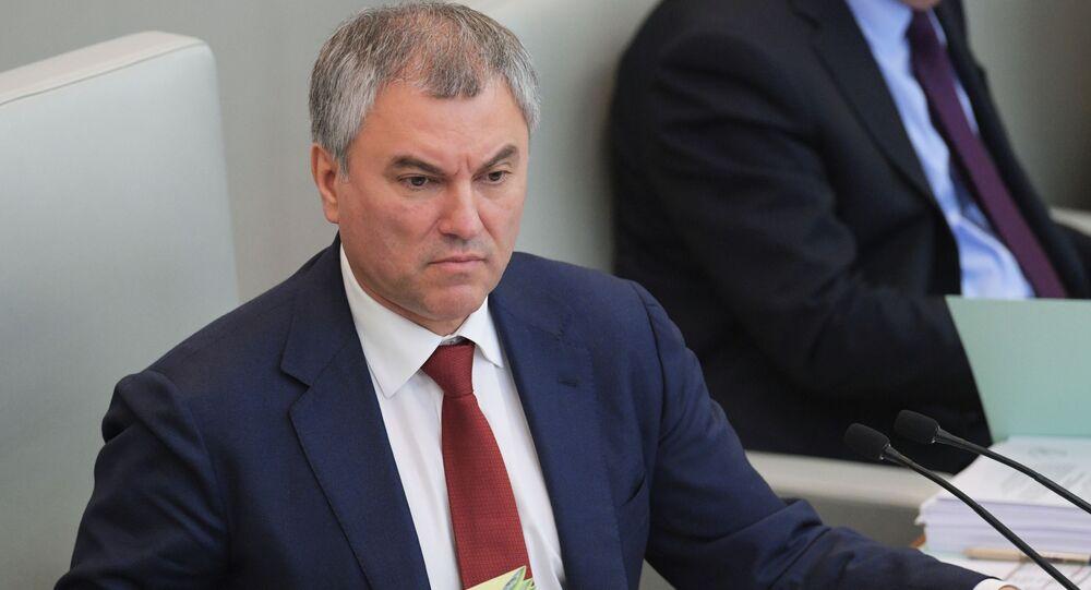 رئيس مجلس الدوما فياتشيسلاف فولودين