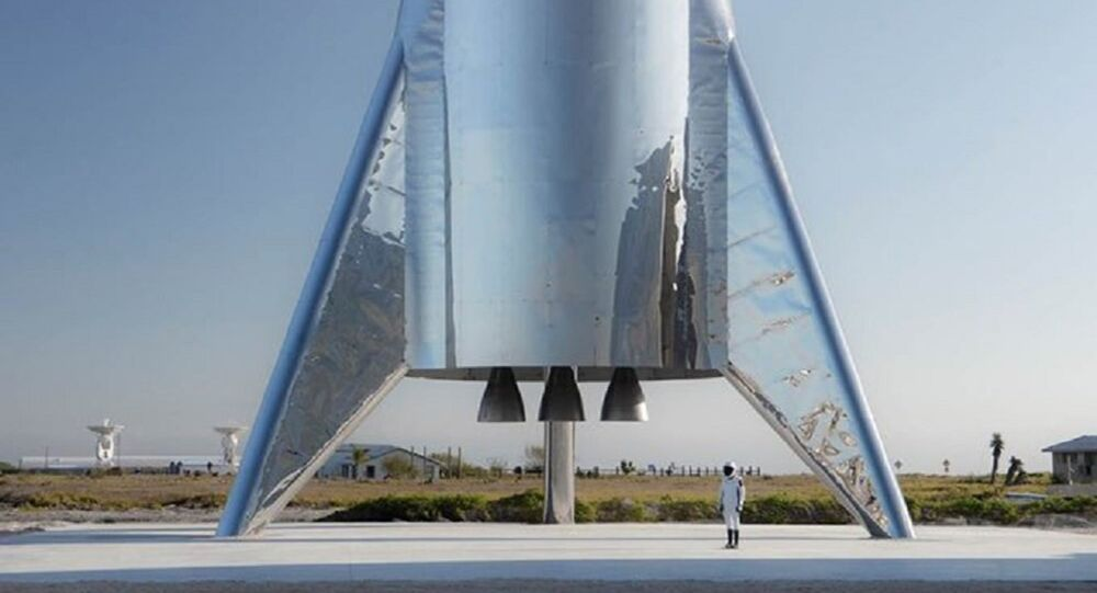 صاروخ الفضاء من صناعة ستار شيب