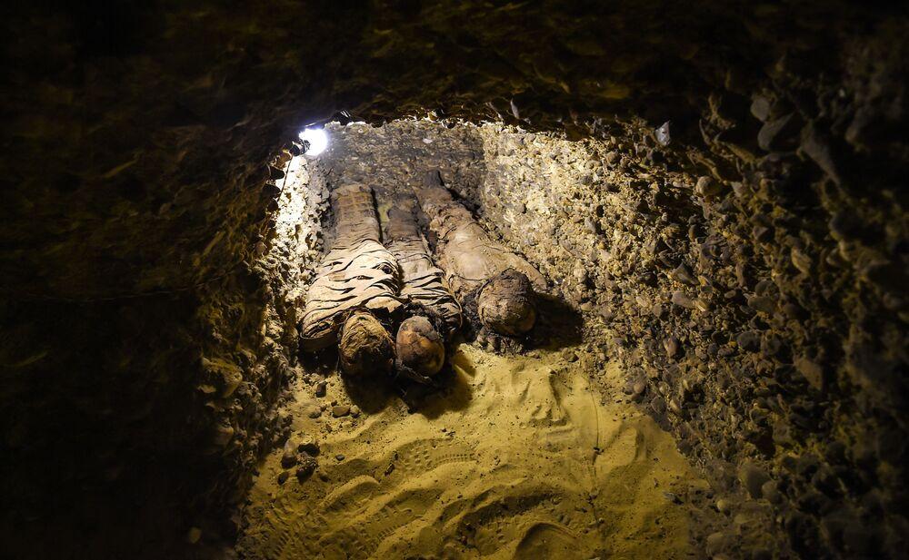 اكتشاف جديد بموقع تونا الجبل الأثري في محافظة المنيا، مصر ، 2 فبراير/ شباط 2019