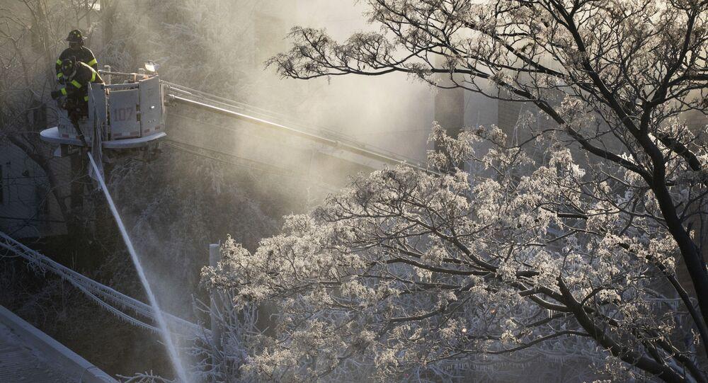 عواصف ثلجية وقطبية في الولايات المتحدة، نيويورك فبراير/ شباط 2019