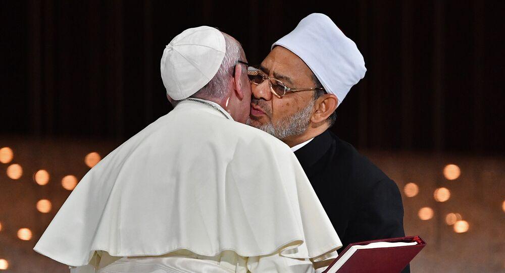البابا فرنسيس، وشيخ الأزهر أحمد الطيب
