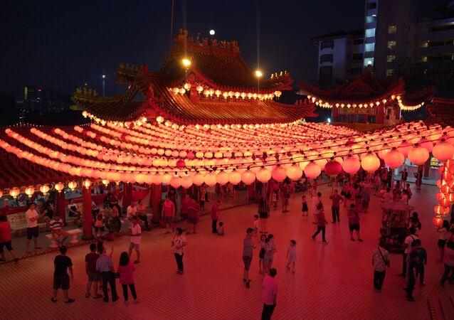 الاحتفال برأس السنة القمرية الصينية الجديدة في معبد في كوالالمبور، ماليزيا 4 فبراير/ شباط 2019