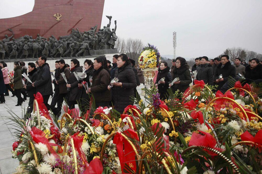 الاحتفال برأس السنة القمرية الصينية الجديدة في بيونغ يانغ، كوريا الشمالية، 5 فبراير/ شباط 2019