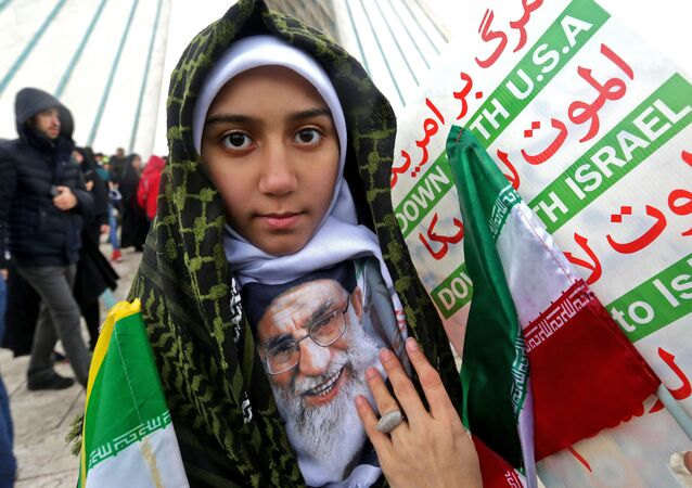 الذكرى الـ 40 على الثورة الإسلامية الإيرانية، اسقطا نظام الشاه في 1979، مسيرات في طهران، إيران 11 فبراير/ شباط 2019