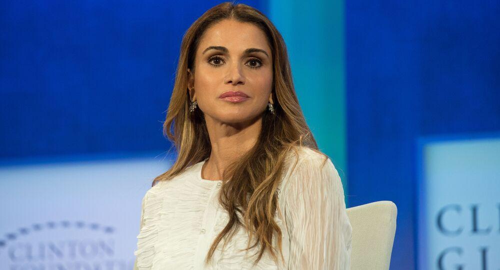الملكة رانيا العبد الله، ملكة الأردن، تشارك في الجلسة العامة: النجاح في الأماكن الأكثر صعوبة في العالم، في مبادرة كلينتون العالمية في نيويورك، 19 سبتمبر/ أيلول 2016