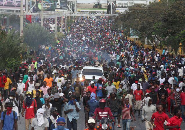 احتجاجات هايتي