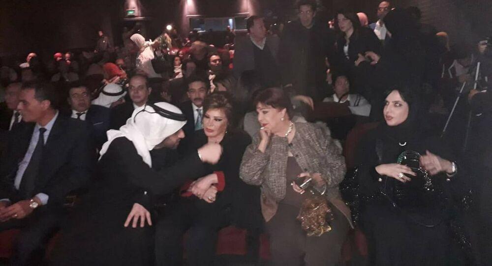 الممثلتان المصريتان رجاء الجداوي وصفية العمري في احتفالية وزارة الثقافة المصرية الخاصة باليوم الإماراتي لـ أصحاب الهمم