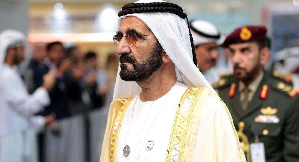 أمير دبي الشيخ محمد بن راشد آل مكتوم - انطلاق فعاليات الملتقى والمؤتمر العالمي للصناعات الدفاعية - معرض آيدكس 2019 في أبو ظبي، الإمارات 17 فبراير/ شباط 2019