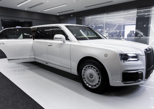 شركة أوراس الروسية لتصنيع السيارات - معرض آيدكس 2019 في أبو ظبي، الإمارات 18 فبراير/ شباط 2019