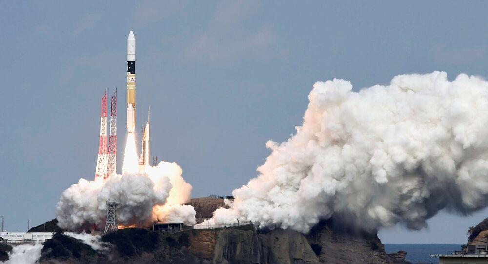 اطلاق صاروخ H-IIA لمظلة Hayabusa 2 الذي يصل إلى الكويكب Ryugu، 22 فبراير/ شباط 2019