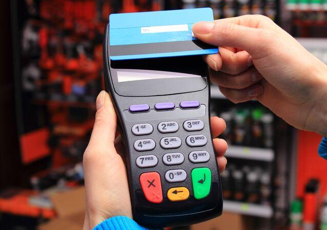 جهاز دفع متنقل للبطاقات البنكية