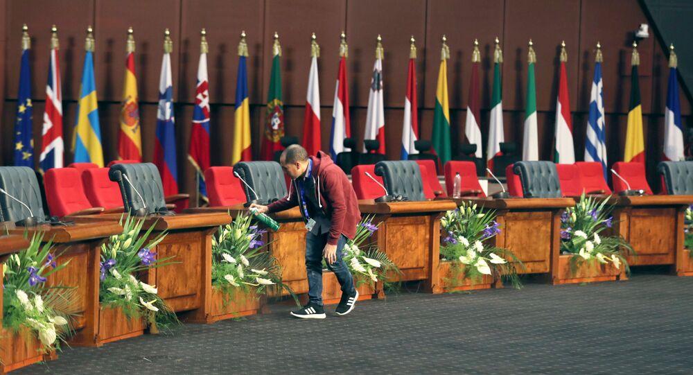 التحضيرات لانطلاق القمة العربية الأوروبية الأولى، المنعقدة في مدينة شرم الشيخ المصرية، 24 فبراير/شباط 2019