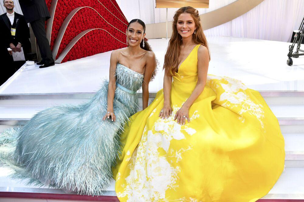 الضيوف: إيلين ويلتروث وماريا مينونوس، في مراسم الحفل الـ 91 لتوزيع جوائز أوسكار السينمائية في هوليوود، لوس أنجلوس، كاليفورنيا، الولايات المتحدة 24 فبراير/ شباط 2019