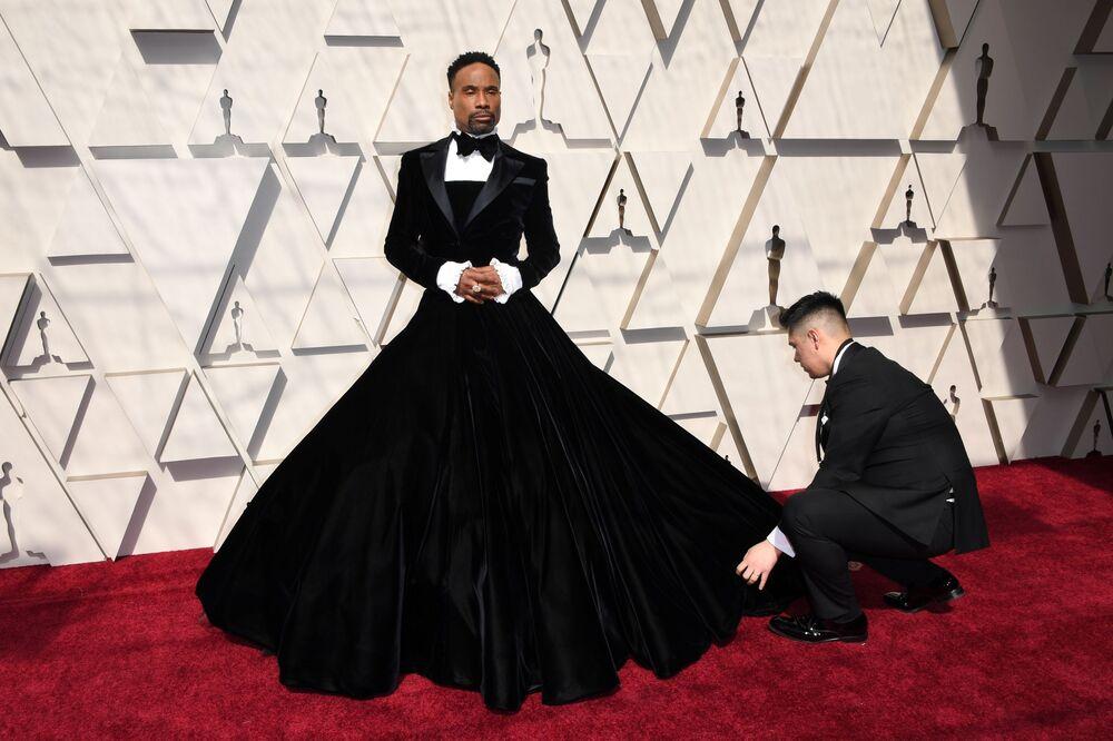 الممثل الأمريكي والمغني بيلي بورتير يصل مراسم الحفل الـ 91 لتوزيع جوائز أوسكار السينمائية في هوليوود، لوس أنجلوس، كاليفورنيا، الولايات المتحدة 24 فبراير/ شباط 2019