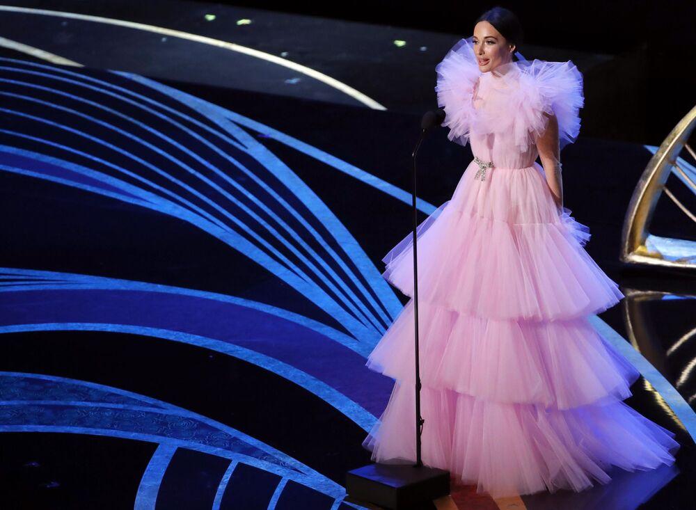 المغنية الأمريكية كيسي ماسغريفز أثناء مراسم الحفل الـ 91 لتوزيع جوائز أوسكار السينمائية في هوليوود، لوس أنجلوس، كاليفورنيا، الولايات المتحدة 24 فبراير/ شباط 2019