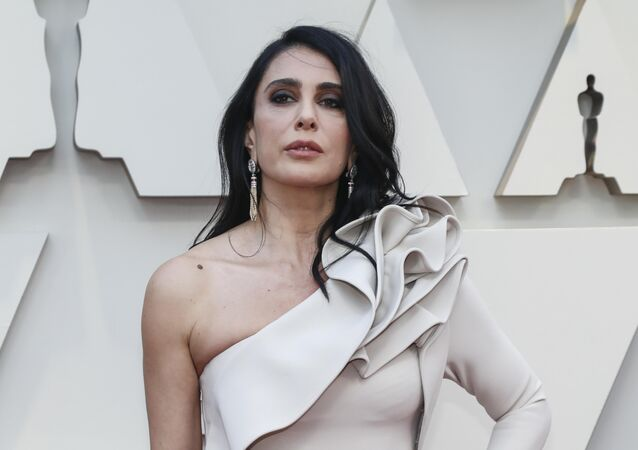 المخرجة اللبنانية نادين لبكي في حفل الأوسكار 91، 24 فبراير/شباط 2019