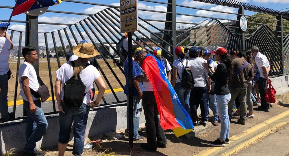 مظاهرات المعارضة الفنزويلية في كاراكاس، فنزويلا فبراير/ شباط 2019