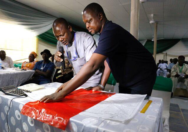 إعلان نتائج الانتخابات في نيجيريا