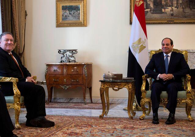 الرئيس المصري عبد الفتاح السيسي يستقبل وزير الخارجية الأمريكي مايك بومبيو
