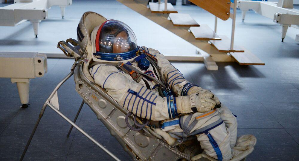 نموذج لبدلة الفضاء في مركز يوري غاغارين لتدريب رواد الفضاء